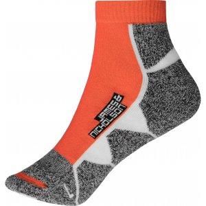 Sportovní ponožky JAMES NICHOLSON JN214 BRIGHT ORANGE/WHITE