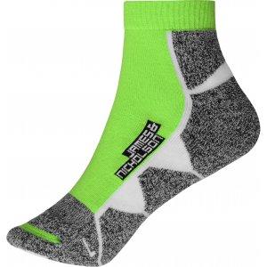 Sportovní ponožky JAMES NICHOLSON JN214 BRIGHT GREEN/WHITE