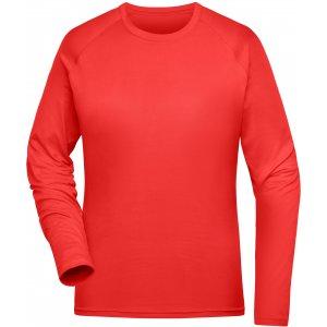 Dámské funkční triko s dlouhým rukávem JAMES NICHOLSON JN521 BRIGHT RED