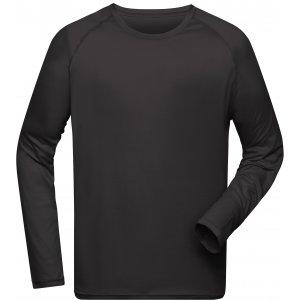 Pánské funkční triko s dlouhým rukávem JAMES NICHOLSON JN522 BLACK