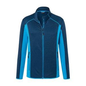 Pánská fleecová mikina JAMES NICHOLSON JN784 NAVY/BRIGHT BLUE
