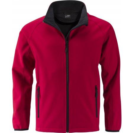 Pánská softshellová bunda JAMES NICHOLSON JN1130 RED/BLACK
