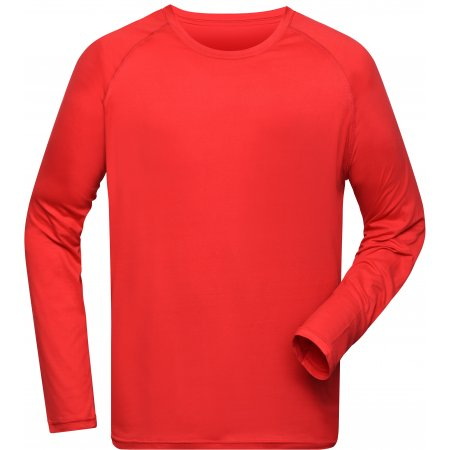 Pánské funkční triko s dlouhým rukávem JAMES NICHOLSON JN522 BRIGHT RED