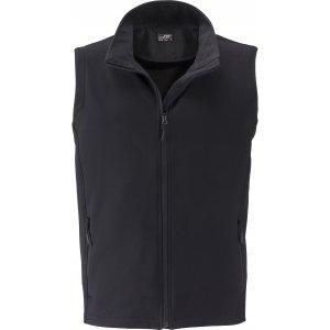 Pánská softshellová vesta JAMES NICHOLSON JN1128 BLACK/BLACK