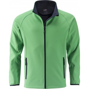 Pánská softshellová bunda JAMES NICHOLSON JN1130 GREEN/NAVY