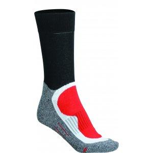 Sportovní ponožky JAMES NICHOLSON JN211 BLACK/RED