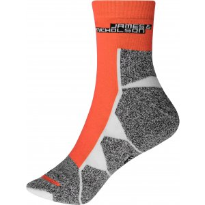 Sportovní ponožky JAMES NICHOLSON JN215 BRIGHT ORANGE/WHITE