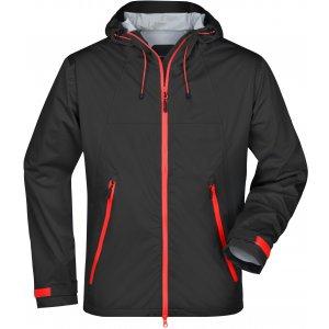 Pánská softshellová bunda JAMES NICHOLSON JN1098 BLACK/RED