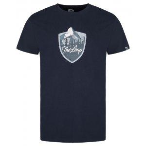Pánské triko LOAP ALESH TMAVĚ MODRÁ