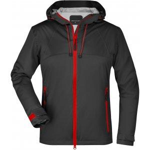 Dámská softshellová bunda JAMES NICHOLSON JN1097 BLACK/RED