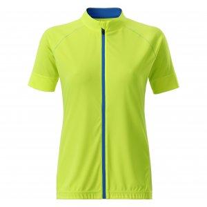 Dámský cyklo dres JAMES NICHOLSON JN515 BRIGHT YELLOW/BRIGHT BLUE