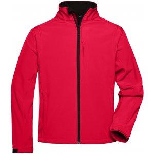 Pánská softshellová bunda JAMES NICHOLSON JN135 RED