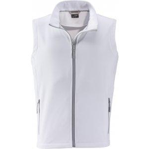 Pánská softshellová vesta JAMES NICHOLSON JN1128 WHITE/WHITE