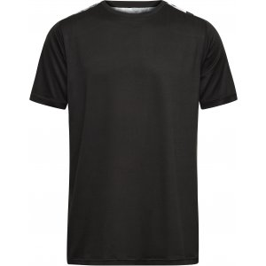Pánské funkční triko JAMES NICHOLSON JN524 BLACK/BLACK PRINTED