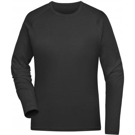 Dámské funkční triko s dlouhým rukávem JAMES NICHOLSON JN521 BLACK
