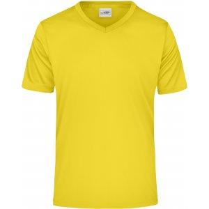 Pánské funkční triko JAMES NICHOLSON JN736 YELLOW