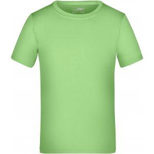 Dětské funkční triko JAMES NICHOLSON JN358K LIME GREEN