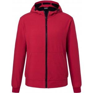 Pánská softshellová bunda JAMES NICHOLSON JN1146 RED/BLACK