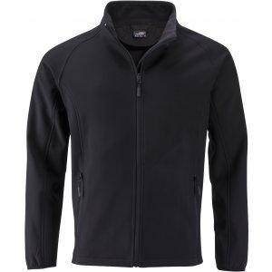 Pánská softshellová bunda JAMES NICHOLSON JN1130 BLACK/BLACK