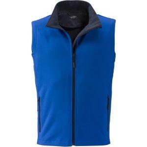 Pánská softshellová vesta JAMES NICHOLSON JN1128 NAUTIC BLUE/NAVY