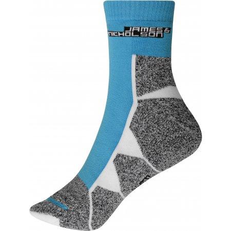 Sportovní ponožky JAMES NICHOLSON JN215 BRIGHT BLUE/WHITE