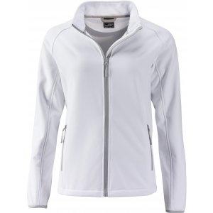 Dámská softshellová bunda JAMES NICHOLSON JN1129 WHITE/WHITE