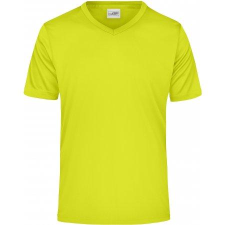 Pánské funkční triko JAMES NICHOLSON JN736 ACID YELLOW