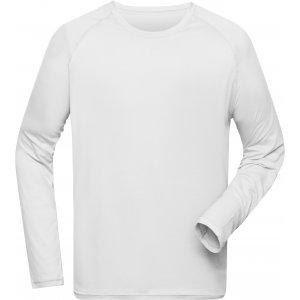 Pánské funkční triko s dlouhým rukávem JAMES NICHOLSON JN522 WHITE