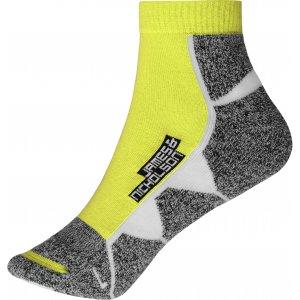 Sportovní ponožky JAMES NICHOLSON JN214 BRIGHT YELLOW/WHITE