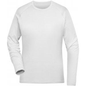 Dámské funkční triko s dlouhým rukávem JAMES NICHOLSON JN521 WHITE