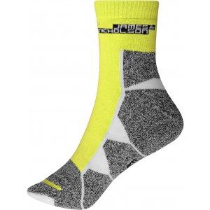 Sportovní ponožky JAMES NICHOLSON JN215 BRIGHT YELLOW/WHITE