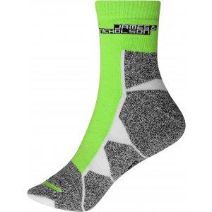 Sportovní ponožky JAMES NICHOLSON JN215 BRIGHT GREEN/WHITE