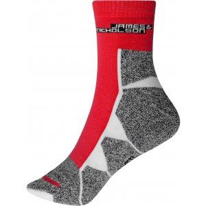 Sportovní ponožky JAMES NICHOLSON JN215 RED/WHITE
