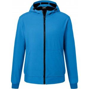 Pánská softshellová bunda JAMES NICHOLSON JN1146 BLUE/BLACK