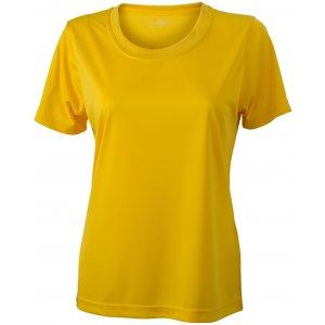Dámské funkční triko JAMES NICHOLSON JN357 YELLOW