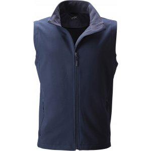 Pánská softshellová vesta JAMES NICHOLSON JN1128 NAVY/NAVY