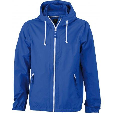 Pánská bunda JAMES NICHOLSON JN1074 NAUTIC BLUE/WHITE