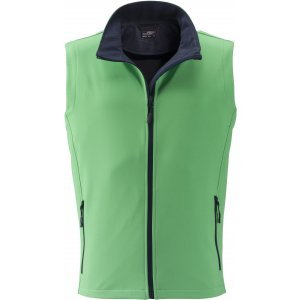 Pánská softshellová vesta JAMES NICHOLSON JN1128 GREEN/NAVY