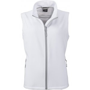 Dámská softshellová vesta JAMES NICHOLSON JN1127 WHITE/WHITE