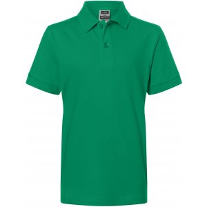 Dětské triko s límečkem premium JAMES NICHOLSON JN070K IRISH GREEN