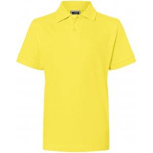 Dětské triko s límečkem premium JAMES NICHOLSON JN070K YELLOW