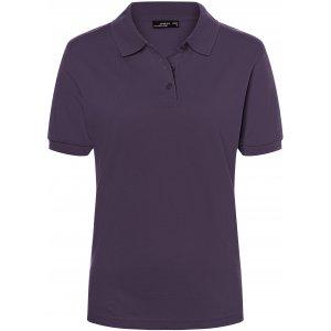 Dámské triko s límečkem premium JAMES NICHOLSON JN071 AUBERGINE