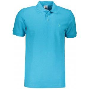 Pánské premium triko s límečkem ALTISPORT ALM002203 TYRKYSOVÁ