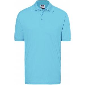 Pánské triko s límečkem premium JAMES NICHOLSON JN070 SKY BLUE