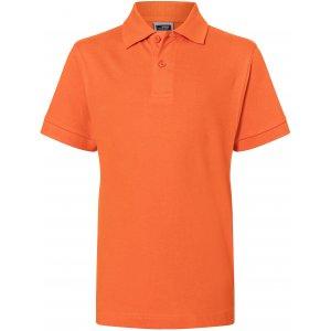 Dětské triko s límečkem premium JAMES NICHOLSON JN070K DARK ORANGE