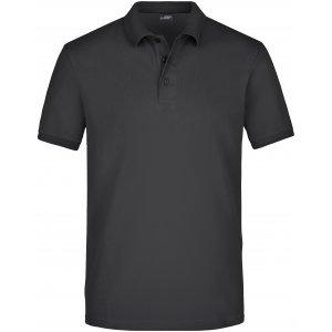 Pánské triko s límečkem elastic JAMES NICHOLSON JN710 BLACK