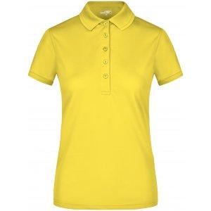 Dámské triko s límečkem funkční premium JAMES NICHOLSON JN574 SUN YELLOW