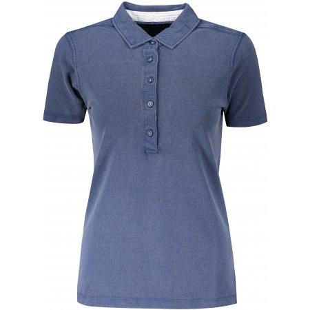 Dámské triko s límečkem fashion JAMES NICHOLSON JN711 NAVY/WHITE LIGHT BLUE
