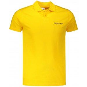 Pánské triko s límečkem ALTISPORT ALM110202 ŽLUTÁ
