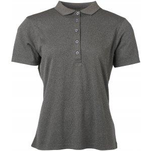 Dámské triko s límečkem funkční classic JAMES NICHOLSON JN719 DARK MELANGE